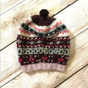 Urban Outfitters heart knitted beanie